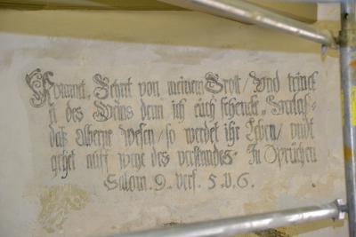 Foto zu Meldung: Entdeckungen in der Reupziger Kirche