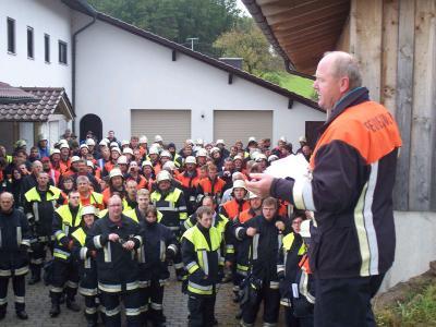Foto zur Meldung: Großübung im Rahmen der Brandschutzwoche