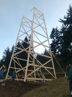 Vorschaubild zur Meldung: Bau Unterkonstruktion Turm