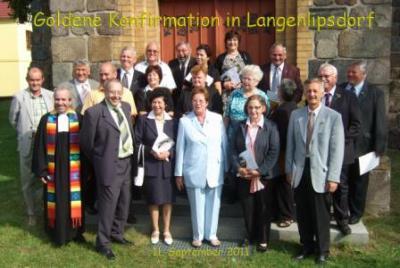 Foto zur Meldung: Goldene Konfirmation des Pfarrsprengels in Langenlipsdorf