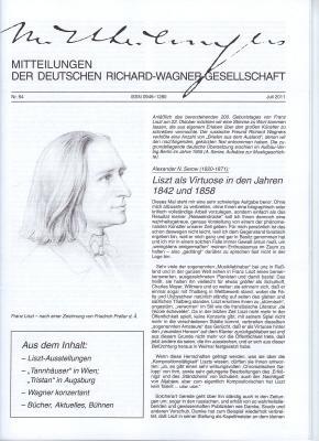 Vorschaubild zur Meldung: Mitteilung der Deutschen Richard Wagner Gesellschaft 06/2011