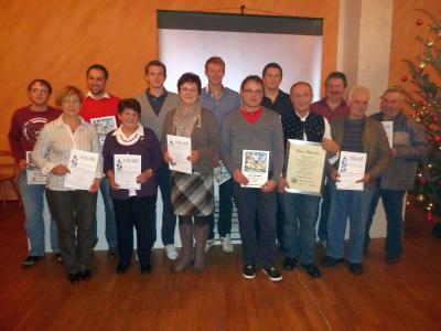 Foto zur Meldung: Jahresabschlussfeier beim Sportverein – Berg- und Talfahrt wurde fortgesetzt