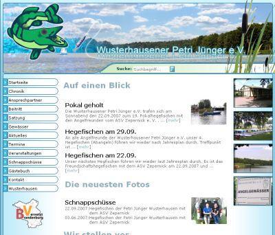Foto zur Meldung: Wusterhausener Petri Jünger e.V. mit neuer Homepage – Teilnahme an AZUBI-Projekten