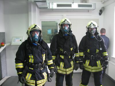 Foto zu Meldung: Intensive Ausbildung für Atemschutzgeräteträger