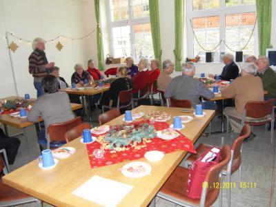Foto zur Meldung: Altencafe`: Rückblick und Vorschau zum Jahreswechsel