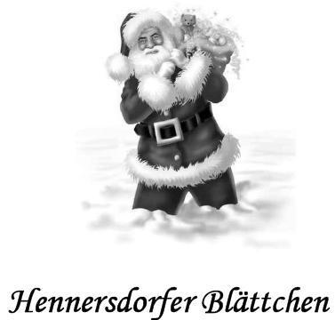 Foto zur Meldung: Hennersdorfer Blättchen Dezember 2011