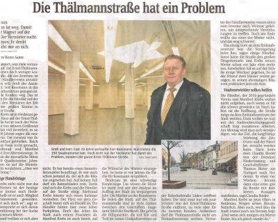 Foto zur Meldung: Sächsische Zeitung: Die Thälmannstraße hat ein Problem