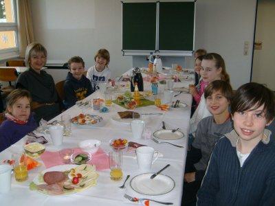 Foto zur Meldung: Frühstücken mit der Schulleiterin