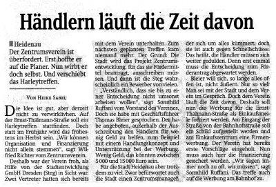 Foto zur Meldung: Sächsische Zeitung: Händlern läuft die Zeit davon