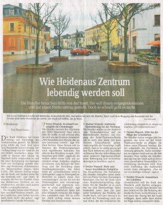 Foto zur Meldung: Sächsische Zeitung: Wie Heidenaus Zentrum lebendig werden soll