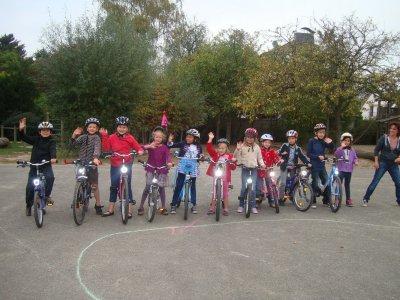 Foto zur Meldung: Radfahrtraining nicht nur für die Großen