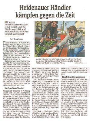 Foto zur Meldung: Sächsische Zeitung: Heidenauer Händler kämpfen gegen die Zeit