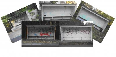 Foto zur Meldung: Bunte und fröhliche Bushaltestellen