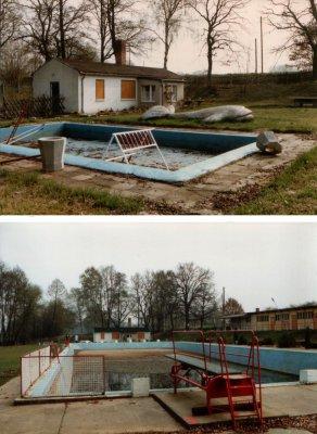 Foto zur Meldung: Rückschau auf das Ziesaraner Schwimmbad