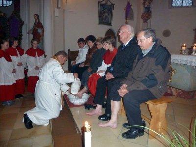 Foto zu Meldung: Feierliches Abendmahlsamt in der Pfarrkirche St. Johannes