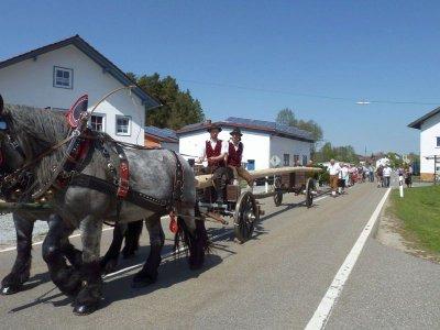 Foto zur Meldung: Dorfverein Hagengrub stellte zum 3. Mal einen Maibaum auf – 200 Gäste