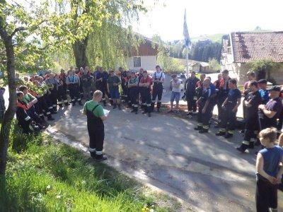 Foto zur Meldung: Übung: Schwelbrand mit zwei Vermissten – 1. offizieller Einsatz des neuen KBM Thomas Penzkofer