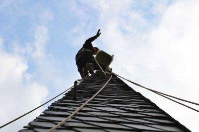 Foto zu Meldung: Rosefelder Kirchturmspitze bestiegen