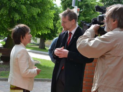 Foto zu Meldung: Käßmann zu Gast in Hinsdorf