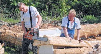Foto zur Meldung: Riesen-Köhlerhütte wird gebaut: Letzte Weichen für das Köhlerzentrum bei Hasselfelde gestellt – Gründung so gut wie fertig
