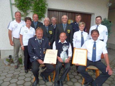 Foto zu Meldung: Vier Vereine gratulierten Anton Pellkofer