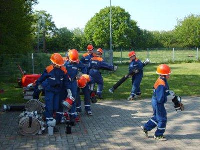 Foto zur Meldung: Trainingslager der Jugendfeuerwehr