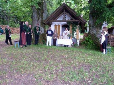 Foto zur Meldung: Die Bergschützen feierten ihren Jahrtag