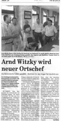 Foto zur Meldung:   26. März 2006 - 9. Juli 2006 Neuwahl des Ortsbürgermeisters der Gemeinde Bettendorf