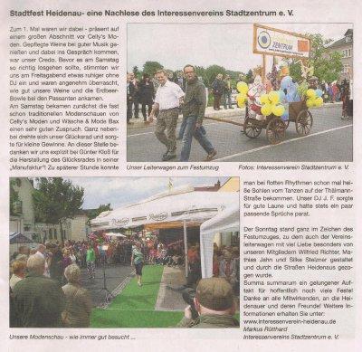 Foto zur Meldung: Heidenauer Journal: Stadtfest Nachlese