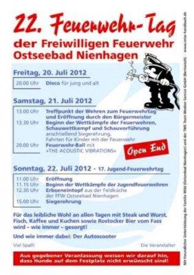 Foto zur Meldung: Feuerwehrfest 2012 !!Brandaktuelle Meldung!!