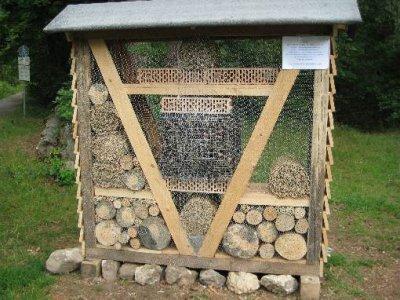 Vorschaubild zur Meldung: Baufortschritt beim Insektenhotel