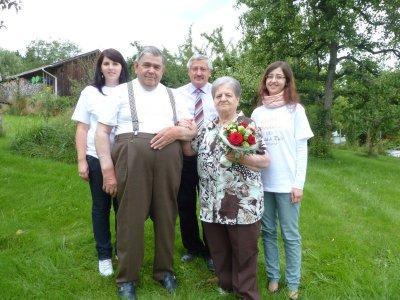 Foto zu Meldung: Bei der Familie Walz wurde Goldene Hochzeit gefeiert