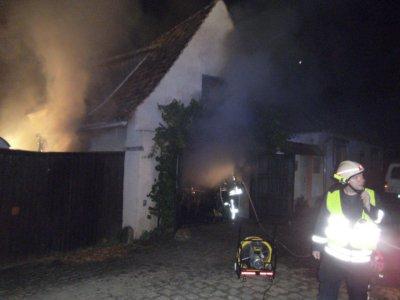 Gebäudebrand in Ermsleben
