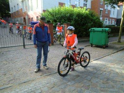 Foto zur Meldung: Radfahrprüfung