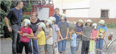 """Foto zur Meldung: Feuerwehr: """"Wasser marsch"""" für den Nachwuchs"""