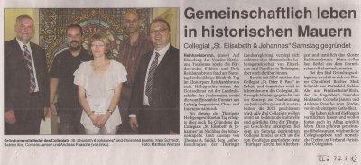 Foto zur Meldung: Gründung des Collegiats St.Elisabeth und Johannes