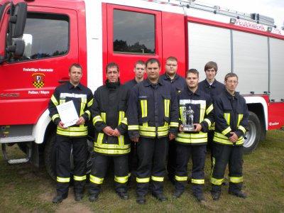 """Foto zu Meldung: Ausscheid """"Löschangriff nass"""" der Feuerwehren der Insel Rügen"""