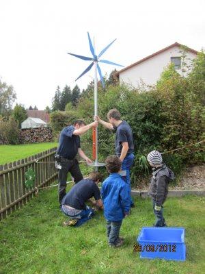 Vorschaubild zur Meldung: WIndkraft im Kinderhaus Kunterbunt