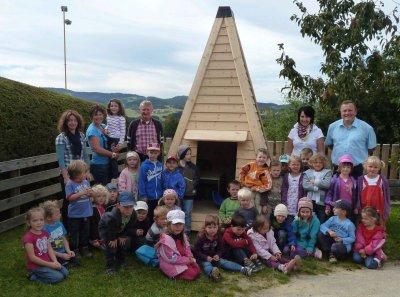"""Foto zur Meldung: Ein Indianer-""""Zelt"""" für die Kleinen"""