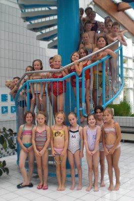 Foto zur Meldung: Schwimmunterricht mit guten Ergebnissen