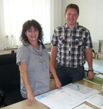 Foto zur Meldung: Neuer Mitarbeiter im Rathaus