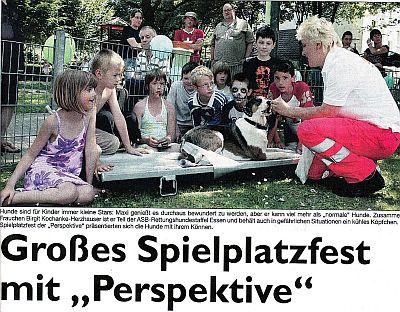 """Vorschaubild zur Meldung: Großes Spielplatzfest mit """" Perspektive"""""""