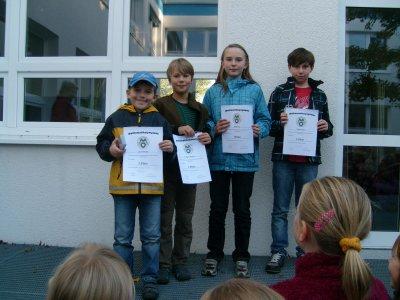 Foto zur Meldung: Sieger der Matheolympiade unserer Schule