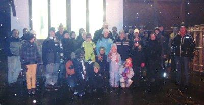 Foto zur Meldung: Fackelwanderung bei Schneetreiben