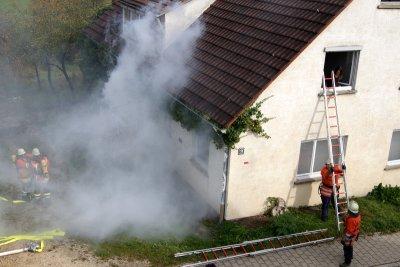 Foto zu Meldung: Hauptübung der Feuerwehr am 13.10.2012