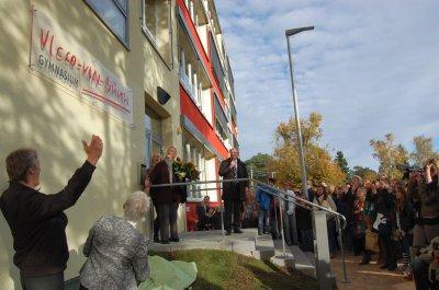 Foto zur Meldung: Daran hätte Loriot seine Freude gehabt -  Vicco-von-Bülow-Gymnasium feierte neuen Namen