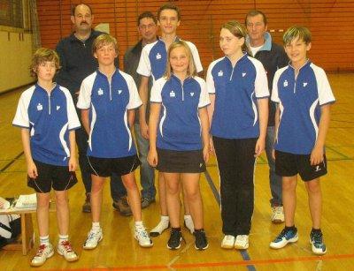 Foto zur Meldung: Badminton-Nachwuchs-Team im Finale
