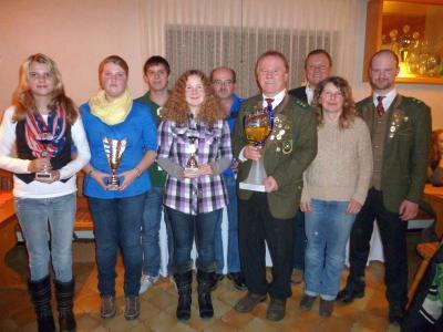 Foto zu Meldung: Große Freude bei den Edelweißschützen – wieder einmal Gewinner des Wanderpokals