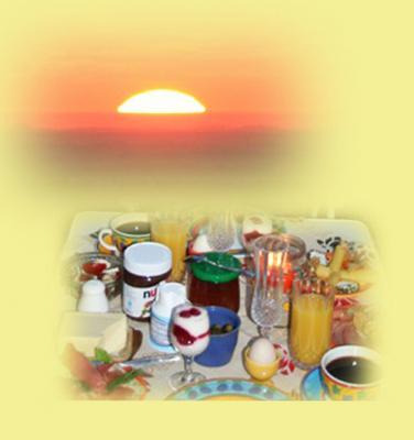 Foto zur Meldung: Sonniges Frühstück mit Ausblick