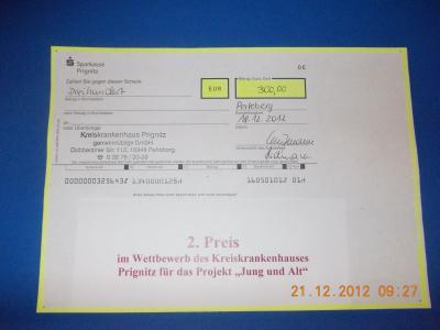 """Foto zur Meldung: 2. Preis für unser Projekt """"Generationen – Jung und Alt gemeinsam"""""""